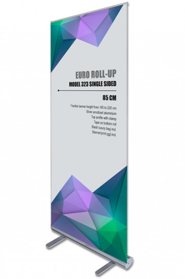 Euro Roll-up, 85cm. single sided. Alu