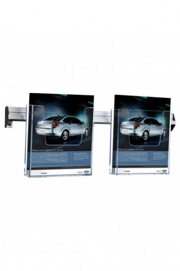Brochure Holder Wall Arylic 2xA5