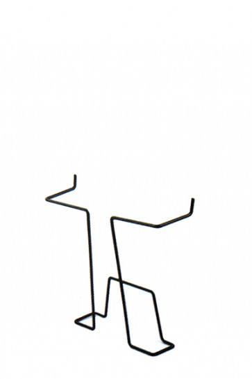 Brochure holder for steel hole panels - Black, A4
