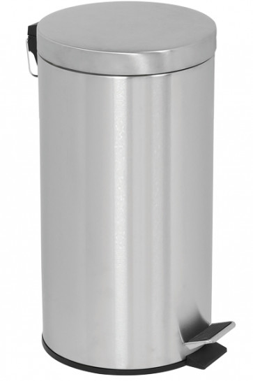 Pedal Trash Can, 20 L - Silver