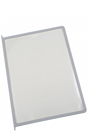 Poster Pocket for Reference Racks - 10 pcs. - Grey/Beige