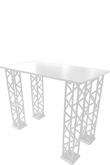 CROWN TRUSS Counter - Rectangle 125x65cm - White