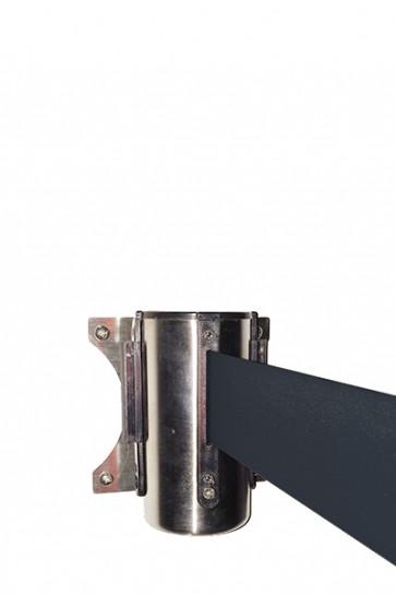 Crowd control belt dispenser wall, black