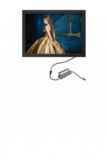 CROWN  LED OUT BOX, 50x70cm single sided - black