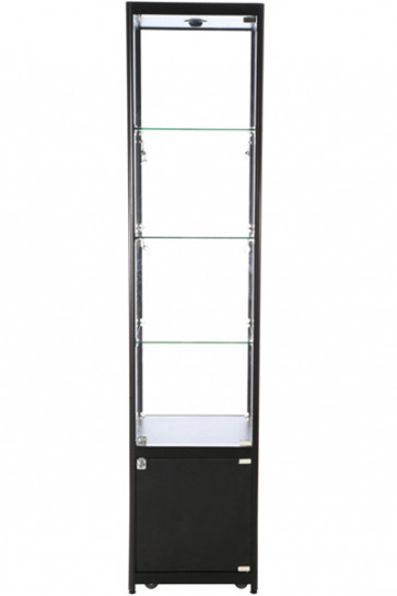 Showcase Tower, Solo, with locker - Black. LED