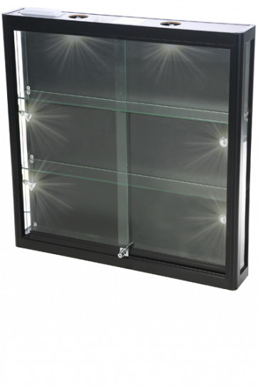 Showcase Wall, Duo - Black. LED