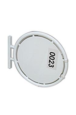 OUTDOOR SIGN cirkel Ø70cm, dobbelsidet - hvid