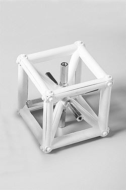 Exibit Corner Block 10x10cm - white