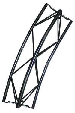 Exibit module Arc 40 cm, 30 degree - black