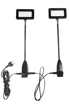 CROWN TRUSS 10x10, LED, 15 watt  Spotlight, incl. holder. 2 pcs. = 1 set - Black