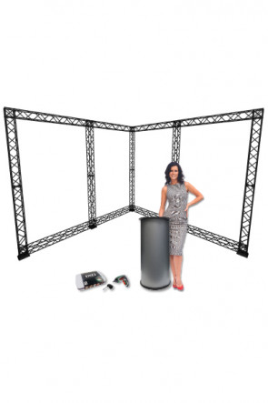 CROWN TRUSS 10x10 - 3x3 meter L-Stand incl. Counter and Ixo