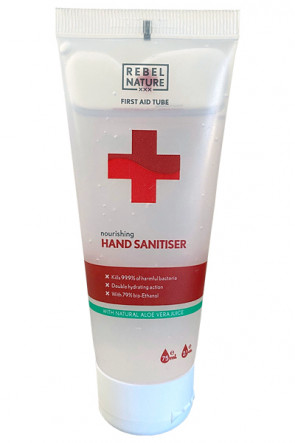 Rebel Nature 79% Luxury Hand Sanitiser Gel with Aloe Vera - 75ml.