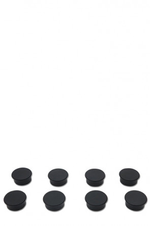 Magnets for e.g. White Board. 8 pcs. black