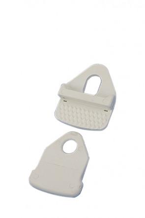 Omni Banner Frame, Plastic banner clamps. White  40 pcs.
