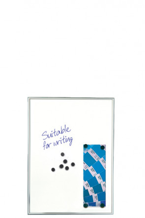 WHITEBOARD Dry-wipe and Magnetic 9mm. 4xA4 Alu