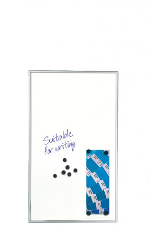 WHITEBOARD Dry-wipe and Magnetic 9mm. 6xA4 Alu