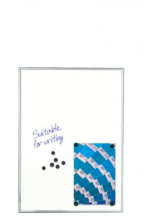 WHITEBOARD Dry-wipe and Magnetic 9mm. 9xA4 Alu