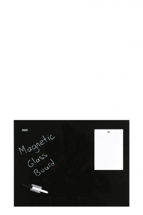 Glass Board Magetic. Black. 40x60cm