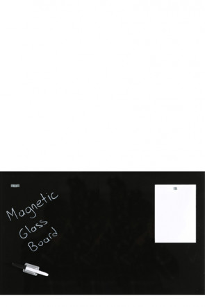 Glass Board Magnetic. Black. 60x120cm