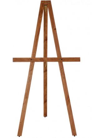 Wooden Staffeli, 165cm. Dark wood