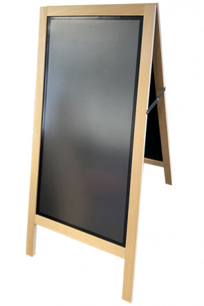 Wooden Pavement Sign - Special - with magnetic front panel for poster size 425x875mm