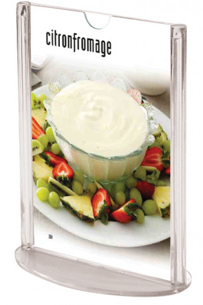 Oval  MENU HOLDER Vertical A4