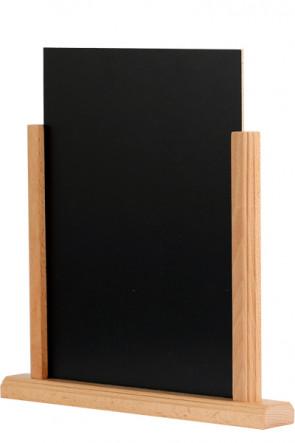 Wooden Menuholder Chalkboard, bøg, A5