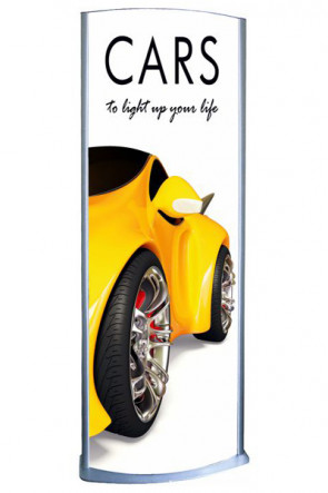 Totem Elipse Lightstand 60x170cm double sided