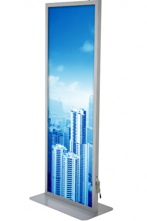 Totem LED Lightstand 59,4x168cm double sided