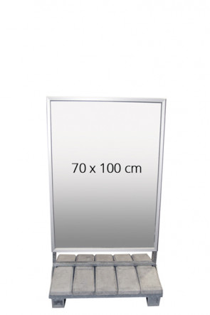 Heavy Outdoor Sign 70x100 cm.  42 mm, Security Profile