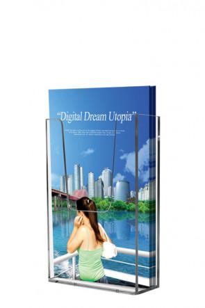 Acrylic Wall Brochureholder A5 clear