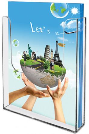 Acrylic Wall Brochureholder A4 clear