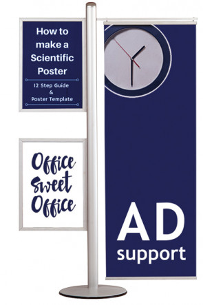 MULTISTAND 16  Double sided with 2 pcs. A2 Slide-in +50cm banner