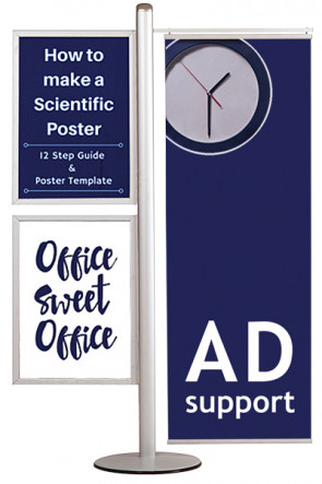 MULTISTAND 16  Double sided, 2 pcs. 50x70cm Slide-in +50cm banner