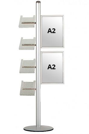 MULTISTAND 18 Single sided 2xA2 Slide-in + 4xA4 Shelves