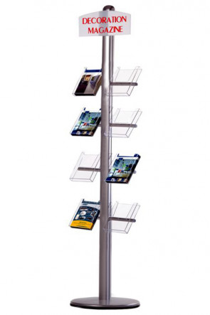 MULTISTAND 20 Single sided, 8 pcs. A5 Shelves + logoplate