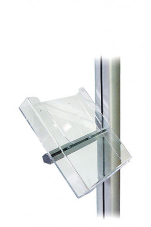 MULTISTAND Acrylic brochureholder with alu fittings, A5