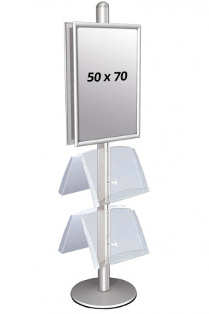 MULTISTAND 4 Double sided with 2 acryl shelve 25mm 2 x 50x70