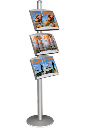 MULTISTAND 5 Single sided with  3 x steel shelve Alu