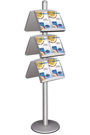 MULTISTAND 6 Doublesided 3 x steel shelve  Alu