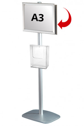 Mini Multistand 4 -Double sided A3 Snap Frame + A4 Brochure holder