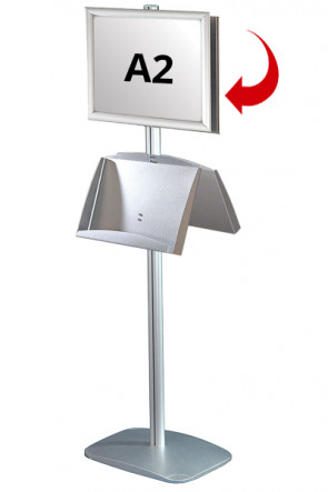 Mini Multistand 6 -Double sided A2 Snap Frame + A3 Steel shelf