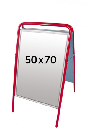 EXPO SIGN streetsign 22mm 50x70 cm red