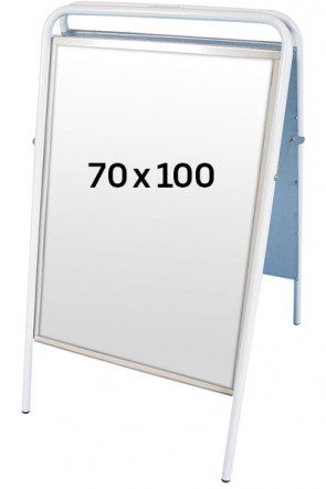 EXPO SIGN streetsign 22mm 70x100 cm white