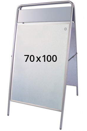 EXPO SIGN pavementboard 22mm 70x100cm TB silver