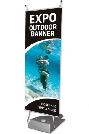 EXPO OUTDOOR BANNER 60x147cm - grey