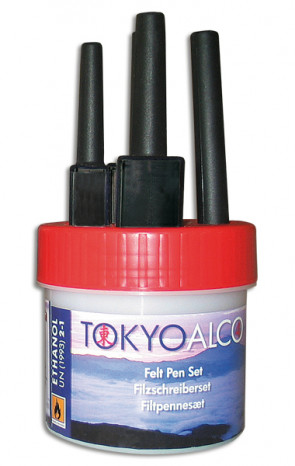 TOKYO ALCO 4 feltpens red