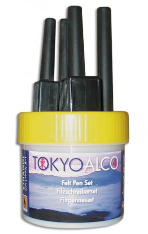 TOKYO ALCO 4 feltpens yellow