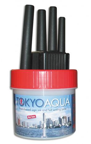 TOKYO AQUA 4 feltpens red