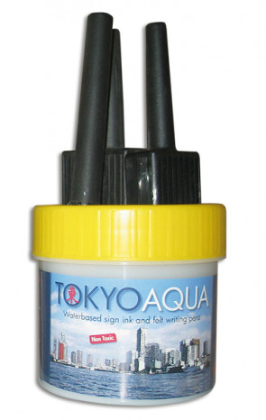 TOKYO AQUA 4 feltpens yellow